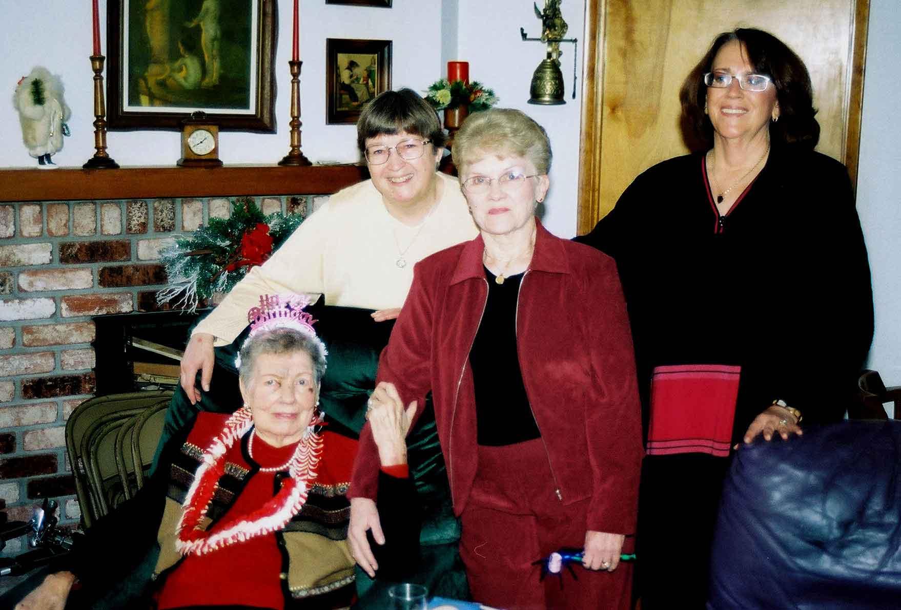 Bonnie Maguire, Karen Ivy, Shirley Pankratz, Sue Ivy Allen - the first cousins