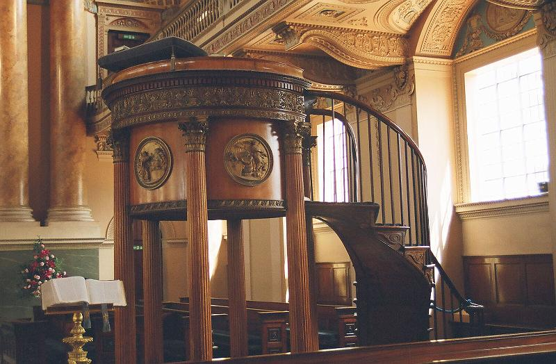 Pulpit, Royal Naval College Chapel