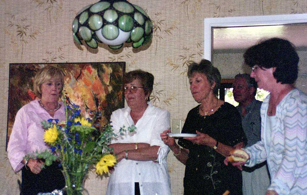 Pat Henderson, Marge Hitzl, and friends