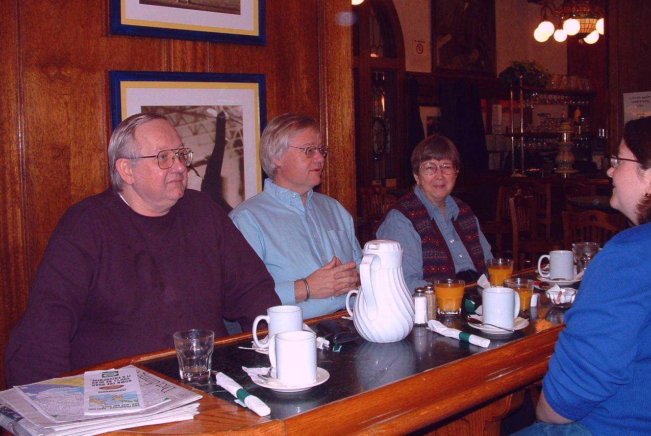 Bill, Jim, Karen, part of Kristin